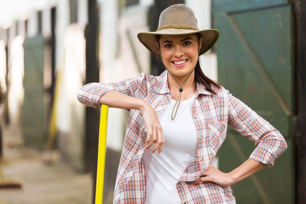 woman farmer over 40